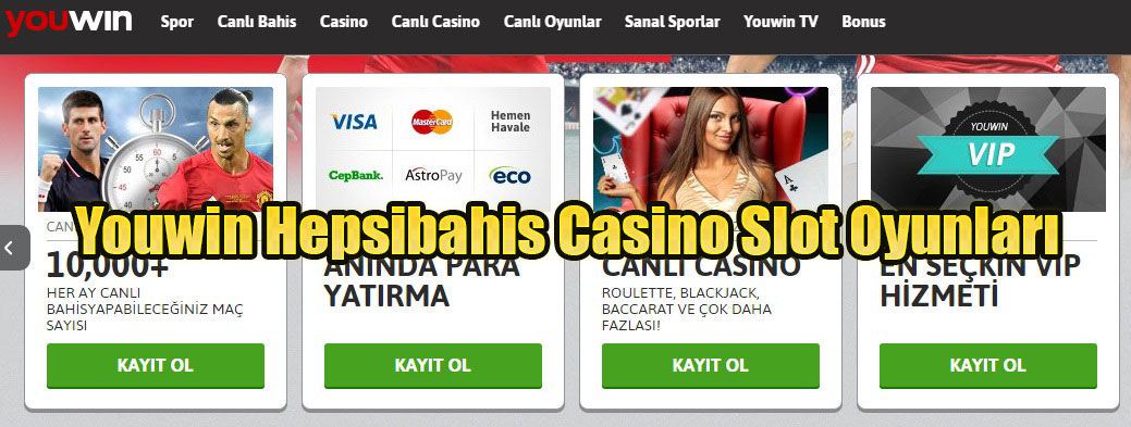 Youwin Hepsibahis Casino Slot Oyunları